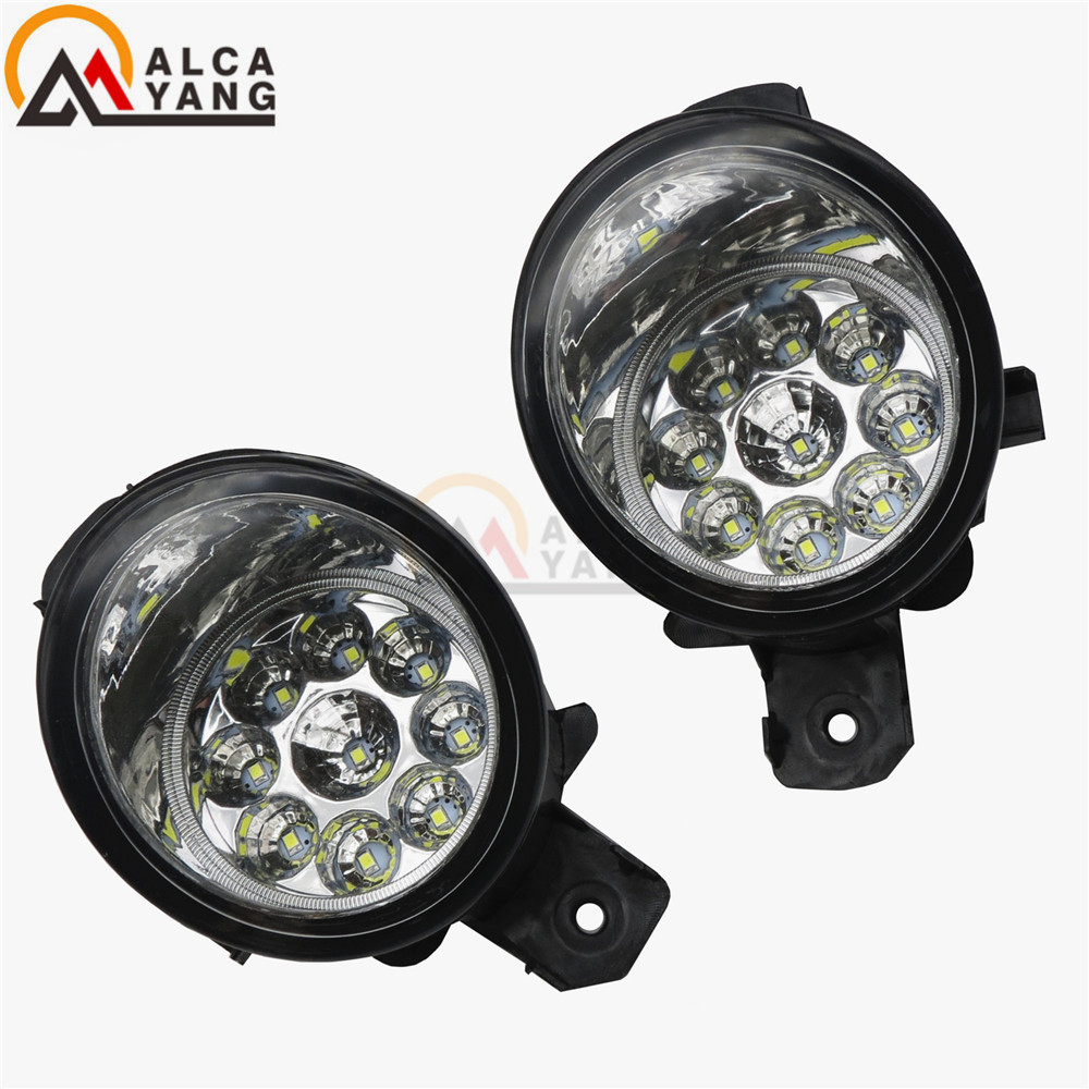 Malcayang Angel Eyes Car styling 55W LED / Halogen Fog LIGHT Lights drl Refit For NISSAN ALMERA 2/II Hatchback (N16) 2001-2006 for nissan x trail t30 2001 2006 car styling led light emitting diodes drl fog lamps