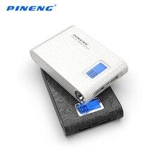 Оригинал pineng 10000 мАч портативный банк силы внешних резервных зарядное устройство питания двойной выход с жк-экраном pn-913
