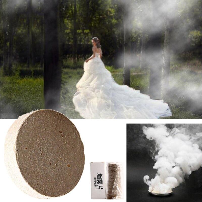 10pcs/set White Fog Smoke Pills Spray Bombs Smog Cake Effect Fog Smoke  Maker for Wedding Party
