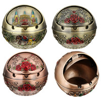 Russian Style Ball Castle Metal Ashtray with Cover Lighters Smoking Accessories Car Ashtray Cigarette Cigar Smokeless Ash Tray