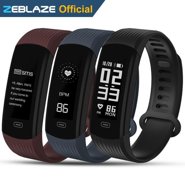 Zeblaze разъем Smart Браслет непрерывной сердечного ритма Мониторы длинные Срок службы батареи и быстрой перезарядки Фитнес трекер SmartBand