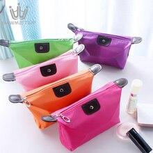 10 צבעים ב 1 סט נשים נסיעות תיק קוסמטי אמבט ארגונית איפור שקיות תיק נייד מקרי נשי רוכסן פאוץ אחסון תיק