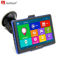 Junsun 7 zoll HD Kapazitive Auto GPS-Navigation 8 GB MP3/MP4 FM Russland karte Permanente kostenlose update navigators