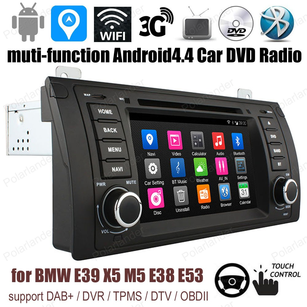Android4 4 7 inch Car DVD Support DTV font b TPMS b font DAB OBDII GPS