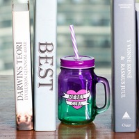 500ml Heat Resistant Glass Tea Milk Fuirt Juice Coffee Cups Mermaid Mug With Lid And Straw
