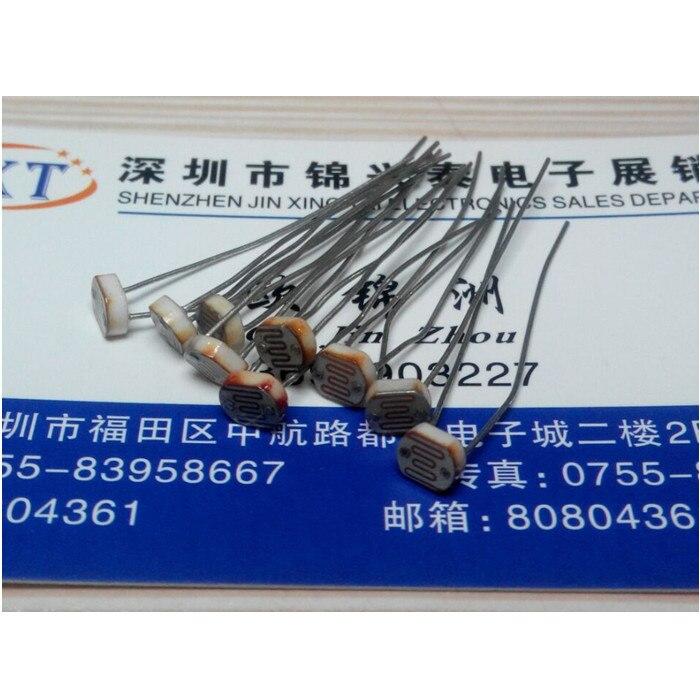50 шт. Фотография Светочувствительных Резистора Фоторезистор Optoresistor 5 мм GL5528…