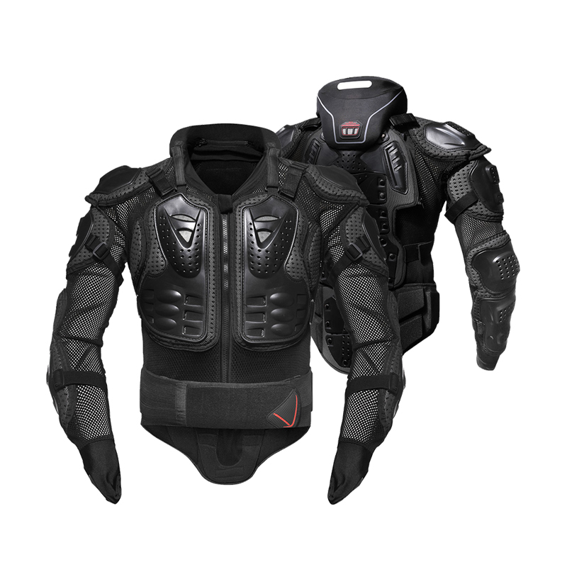 HEROBIKER Moto armure Protection complète du corps équipement de protection Moto veste Moto vestes avec protège-cou - 2