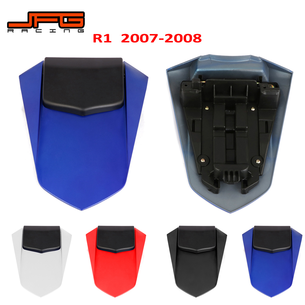 Motorcycle Red Blue White Black Rear Seat <font><b>Fairing</b></font> Cover Cowl Tail For <font><b>YAMAHA</b></font> YZF-<font><b>R1</b></font> YZFR1 YZF <font><b>R1</b></font> <font><b>2007</b></font> 2008 image