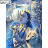 5d diy diamond embroidery Angels and animals diamond painting Cross Stitch full square Rhinestone mosaic home decor HYY