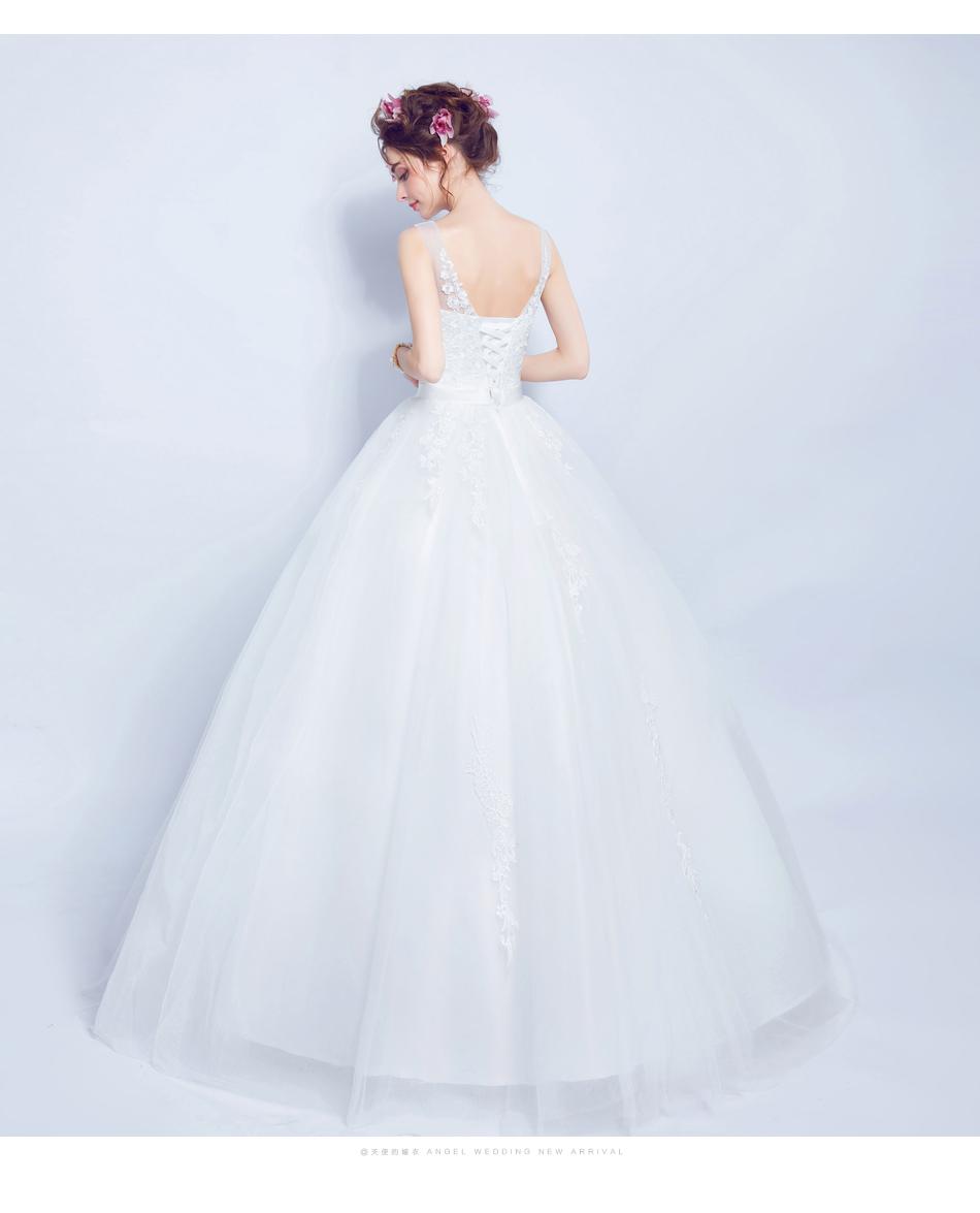 Angel Wedding Dress Marriage Bride Bridal Gown Vestido De Noiva 2017 Lace, flowers, perspective, backless 612 14