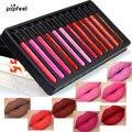 12 Pcs/Set Popfeel Cosmetics Lip Kit Maquiagem Matte Lip Gloss Matt Lipstick Liquid Make up Lips Makeup Lip Pencil Batom