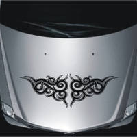 For Car Racing Outline Classical Flame Hood decals Vinyl sticker Classic Attractive Car Sticker