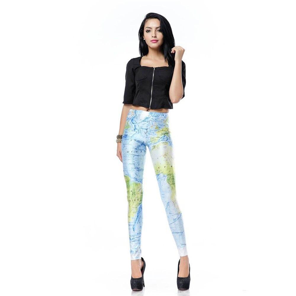 3c7814183d summer elegancia y estilo leggings women leggings legins new world map 3d  digital impresa de las mujeres pantalones leggings -in Leggings from Women s  ...