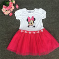 retail 2016 ,queen girls party dress minnie mouse dress cute baby girls dress,princess summer dress