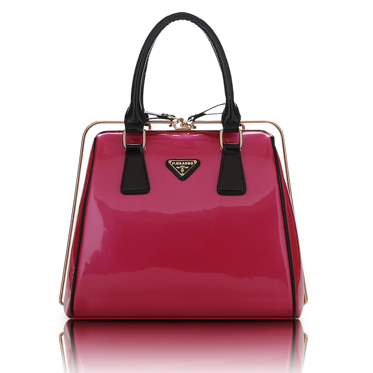 ФОТО Time-limited Beauty Package 2016 Amber Leather Version Europe Double Locking Portable Shoulder Diagonal Bags One Generation 575