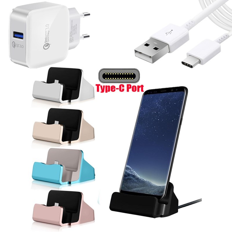 Oneplus Charging Cradle Type C Dash Dock Charger Dash Wall Charger Type-C Cable For One plus Three Five Six 1+3 3T 5T 6 7 Pro