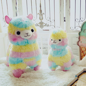 1pcs Rainbow Alpaca Stuffed Pl