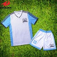 Scollo A V insieme uniforme di calcio personalizzazione personale ultimo disegno di sublimazione calcio maglie