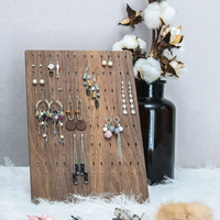 Wood Earrings Display Tray Black Walnut Solid Wood Earings Display Storage Holder Jewelry Display Stand