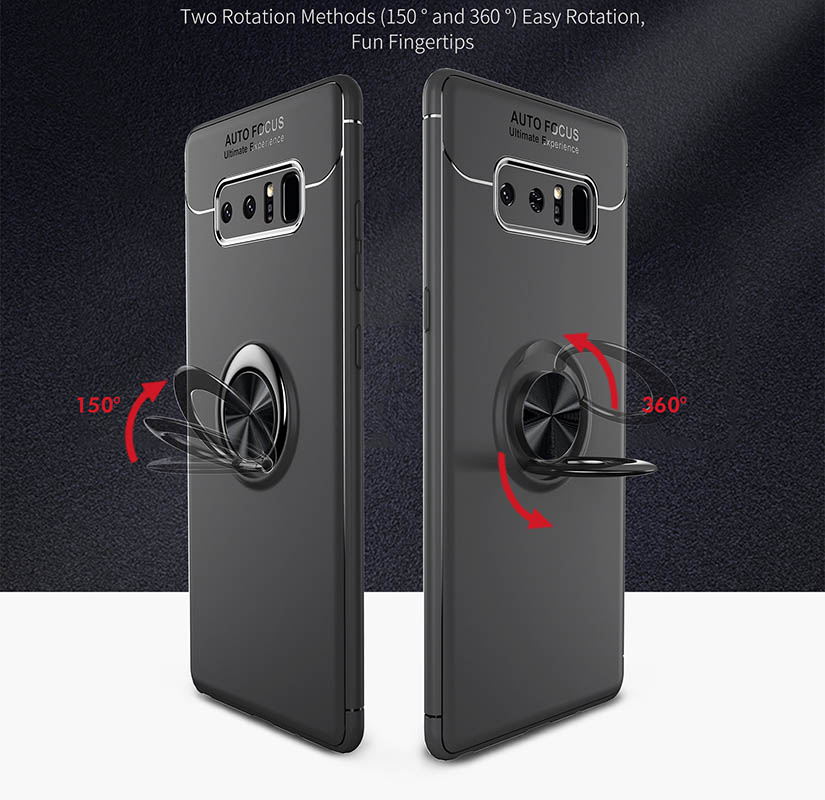 Phone Cases for Samsung Galaxy Note8 Case Finger Ring Stand Shockproof Soft Back Cover for Samsung Galaxy Note8 Coque 6 3 Inch in Half wrapped Cases from Cellphones Telecommunications