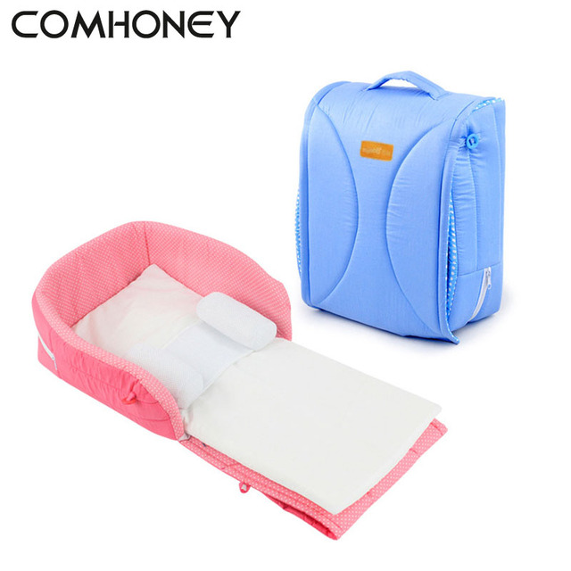 Newborn Baby Cradles Crib Infant Safety Portable Folding Bed Cot Playpens Bed  Children Comfort Portable Outdoor