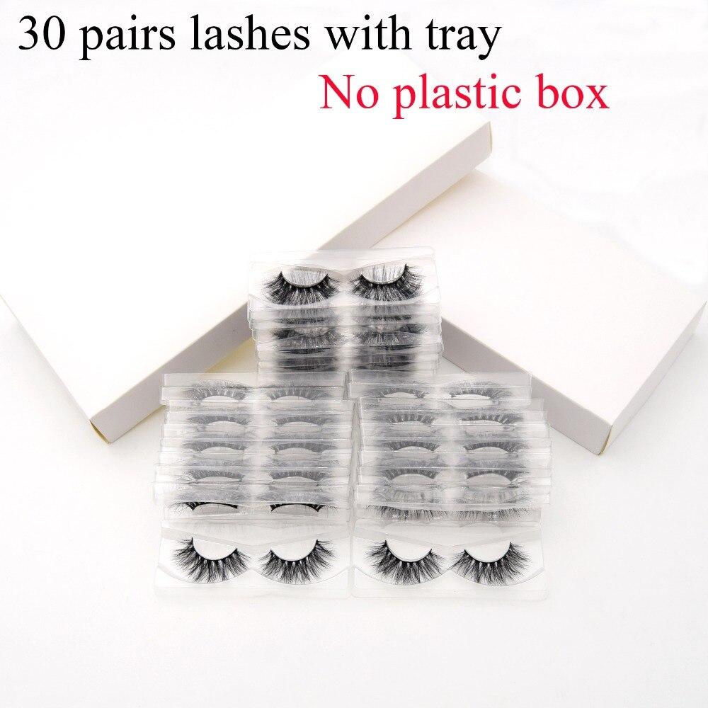 30 paires/pack Visofree 3D Vison Cils avec Plateau Aucune Boîte Naturel Sans cruauté Vison Cils Réutilisables Faux Cils Long Faux cil
