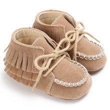 2017 Fashion 2 Layer Tassels Baby Moccasin Newborn Babies Snow Boots Baby First Walkers Spring Autumn Baby Shoes 5-Colors Boot