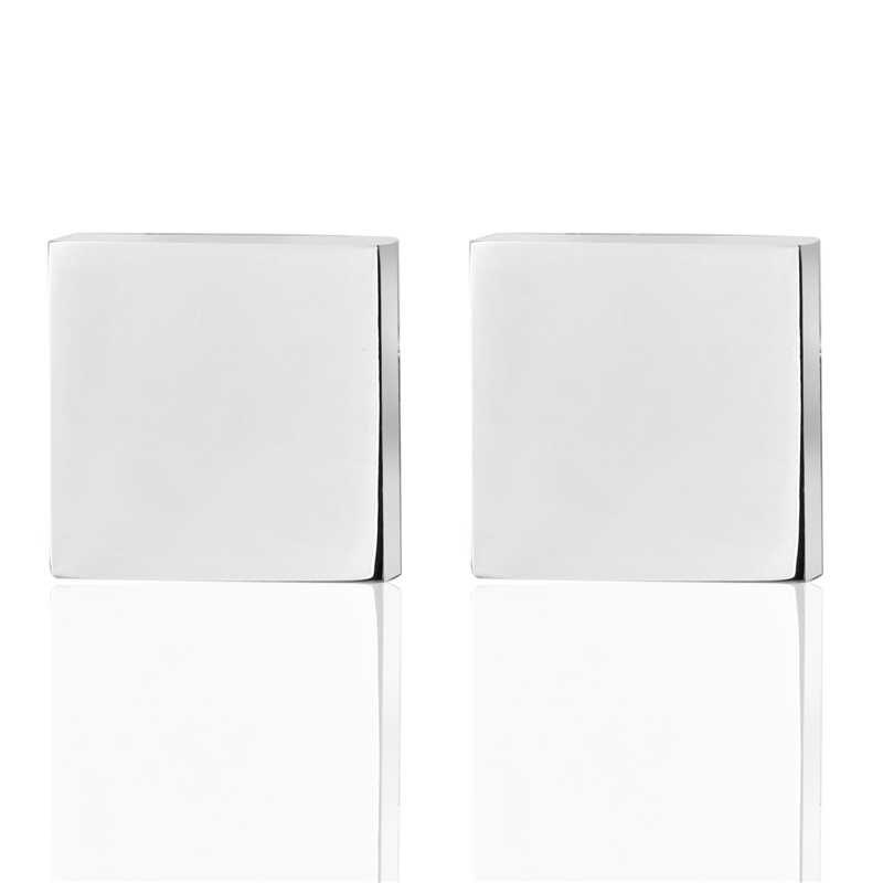 Produkty sprzedają się jak ciepłe bułeczki moda męska biżuteria srebrny kwadrat spinki do mankietów spinki do mankietów francuski koszula rękawów spinki do mankietów