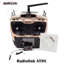 RadioLink AT9S 2.4 GHz 10CH AT9 Upgrade Transmitter dengan R9DS DSSS FHSS & Receiver Untuk RC Multicopter Drone Perahu Cepat Dropship