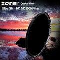 ZOMEI Оптическое Стекло 10-STOP 52/58/67/72/77/82 ММ Ультра Тонкий HD покрытием Нейтральной Плотности ND1000 фильтр для Canon Nikon камеры