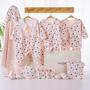 Image 2 - Cartoon noworodka ubrania zestaw prezentowy dla dziecka bawełna noworodki dziewczynka chłopiec ubrania dla niemowląt odzież ubranko dla dziecka noworodka zestaw bez pudełka
