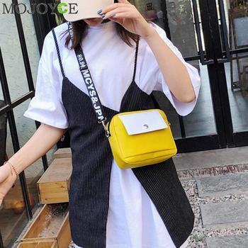 Women Shoulder Bags Solid Zipper Bags Men Small Black Canvas Crossbody Bags Female Nylon Women Men Small Crossbody Bags