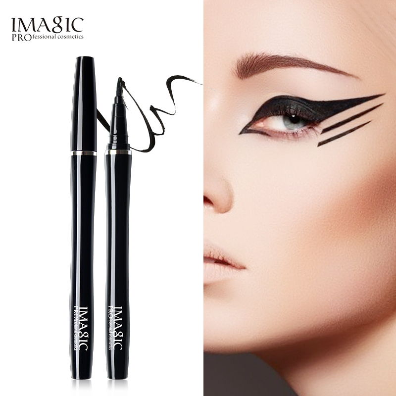 IMAGIC 1PCS Professional Eyeliner Waterproof Liquid Type Makeup Eye Liner Nature Long Lasting For Women Beauty Cosmetics