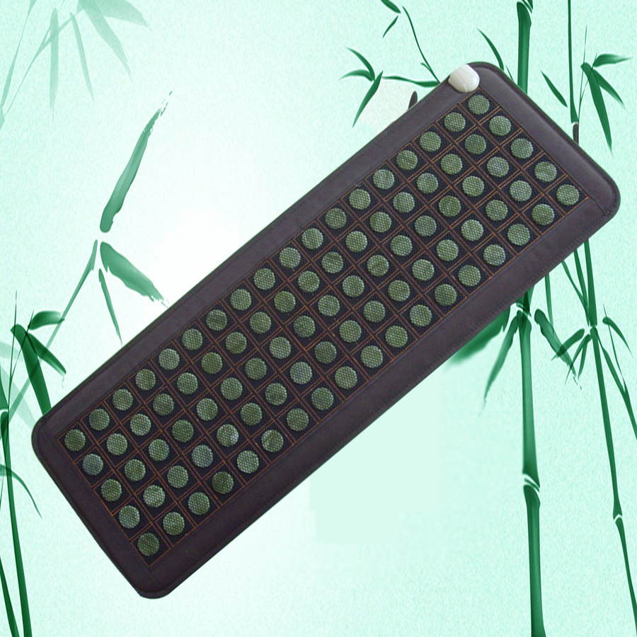 цены 2017  NEW Hot Sale  Full Body Massager Natural Jade Tourmaline Stones Infrared Heating Mat