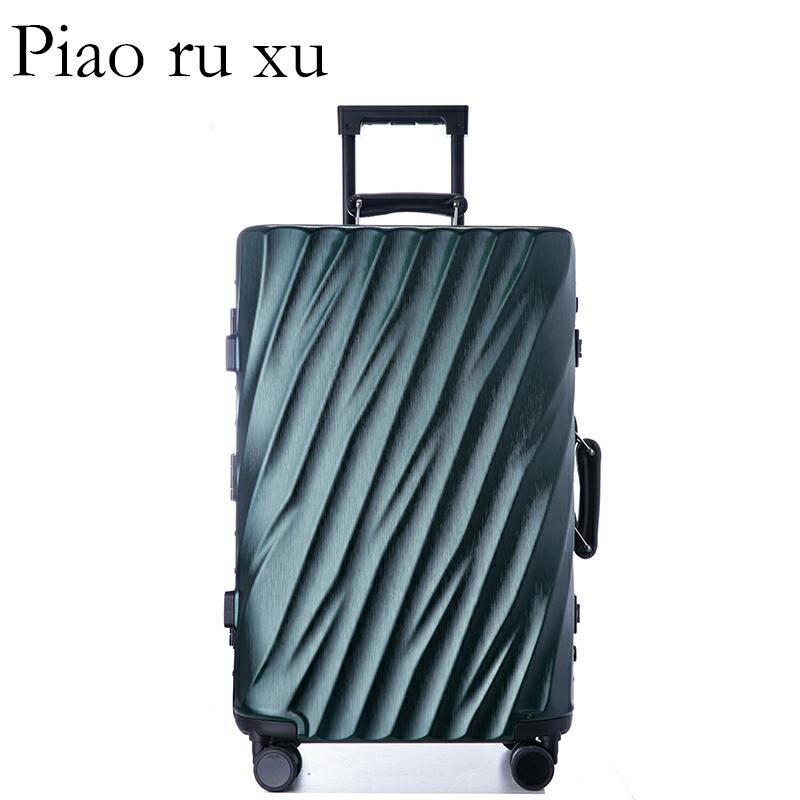 """Moda 7 color 20 """"22"""" 24 """"26"""" 29 """"marco de aluminio VS equipaje duro de policarbonato equipaje maleta equipaje rodante-in Maletas duras from Maletas y bolsas    1"""