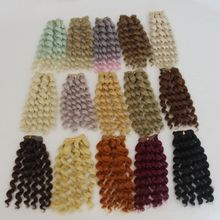 1pcs 20cm*100CM Doll Wigs/hair Braid Hairstyle For 1/3 1/4 1/6 BJD/SD Doll DIY Wigs Dolls Accessories Christmas Toy 20cm deep wavy doll wigs sd ad 1 3 1 4 1 6 bjd doll diy hair for blyth bjd handmade doll wigs