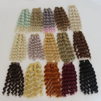 1pcs 20cm*100CM Doll Wigs/hair Braid Hairstyle For 1/3 1/4 1/6 BJD/SD Doll DIY Wigs Dolls Accessories Christmas Toy 20cm brunette blonde coffee black brown natural color curly doll wigs hair for 1 3 1 4 1 6 bjd sd doll diy
