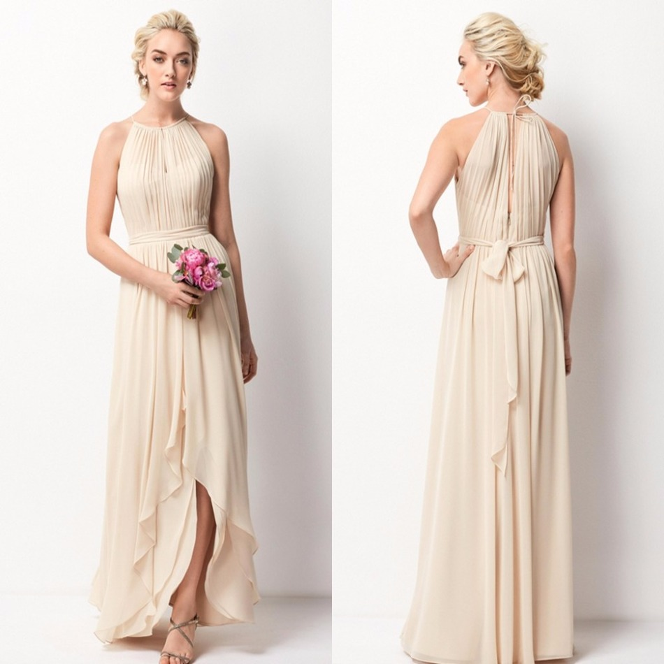 Low Back Wedding Guest Dresses : Chiffon bridesmaid dresses long cheap wedding guest