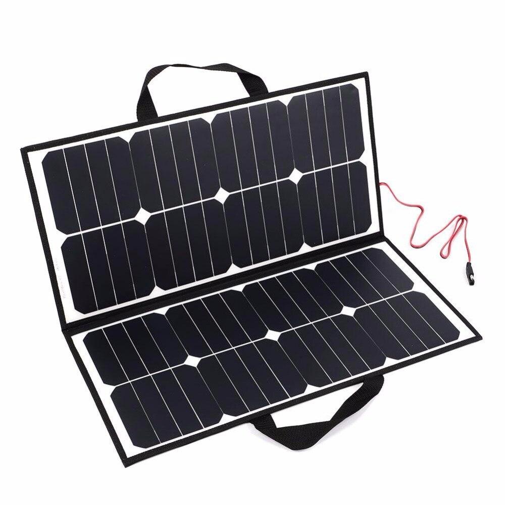 Portátil al aire libre 50 W 18 V Camping impermeable plegable Panel Solar cargador para batería Covenience herramienta de Camping al aire libre - 2