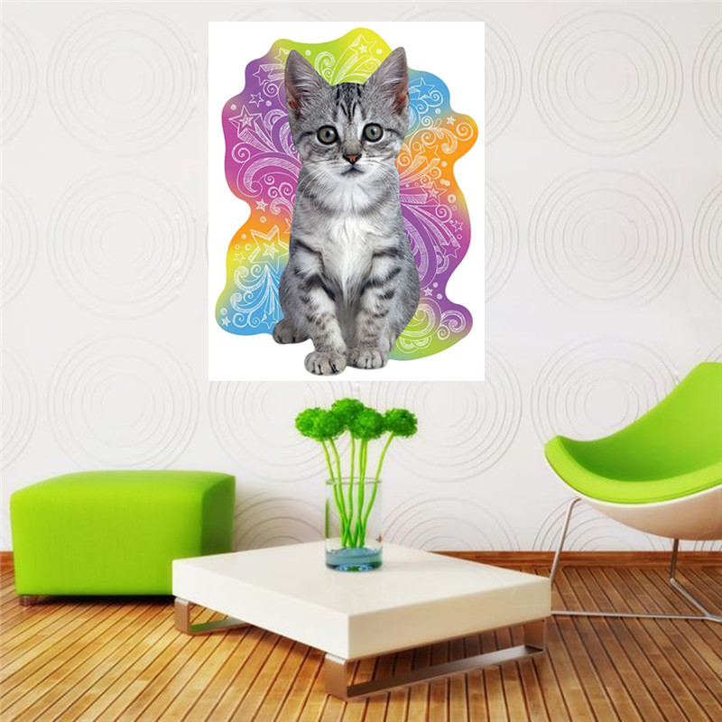 Diamond painted cross stitch full round diamond embroidery flower cat mosaic stickers home in Diamond Painting Cross Stitch from Home Garden