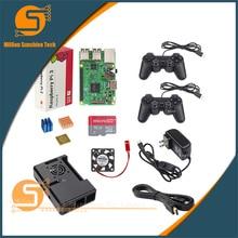 Wholesale UK RS Version Raspberry pi 3 + Heat sink+ABS Case Box+5V3A power charger plug+GPIO Kit+1.5m HDMI for Raspberry pi 3 B