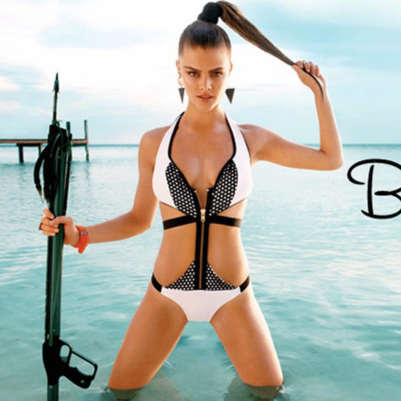 Zipper style corset bikini feu Zipper a franchi l'œil de la bikini Sexy Blanc Bikini AliExpress Chaude Agent Provocateur