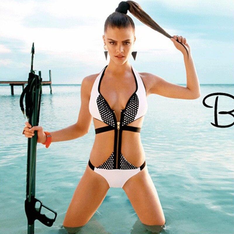 Zipper style corset bikini fire Zipper broke through the eye of the bikini Sexy White Bikini AliExpress Hot Agent Provocateur ...