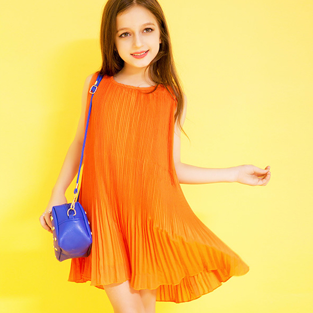 9df28bb52254 2017 Summer style girl dresses for 4 15 years Princess Party Kids ...
