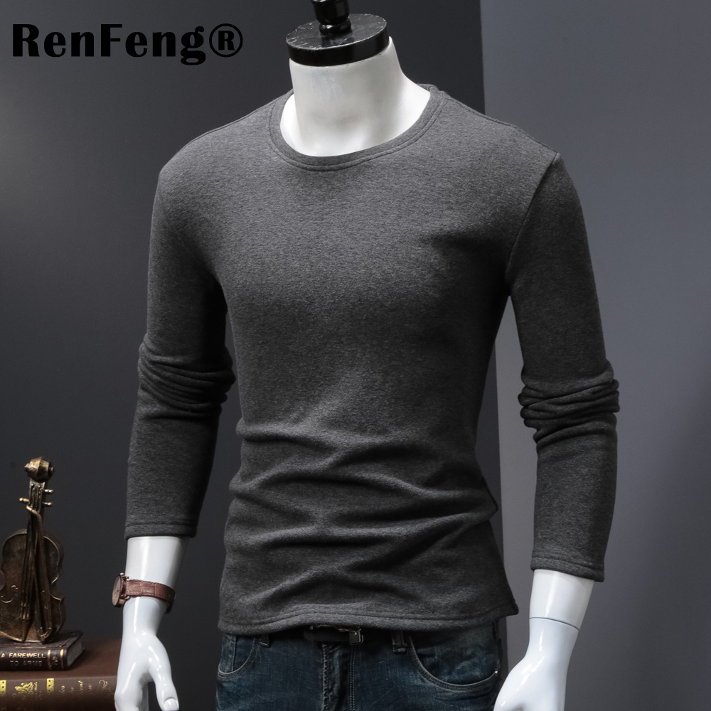 High Quality O-neck Sweater Men Winter thick Pullover Solid Knitted Sweater Tops for Men Autumn Male oversized Sweater Knitwear (3)