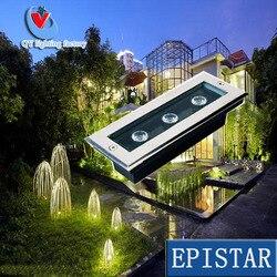 Fabryka sprzedaż bezpośrednia darmowa wysyłka 3 W LED  pod ziemią  lekka IP68 pochowany oświetlenie LED reflektor DC12V 24 V lub AC85-265V