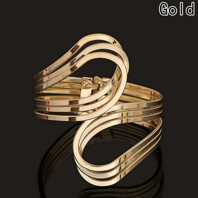 Armband Wide Gold Color...