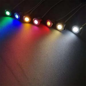 Image 5 - Mini HA CONDOTTO LA Luce Sotterranea 1W IP67 Giardino Luce Esterna Impermeabile Rotonda LED Luci scale DC12V Luci di Ponte A LED HA CONDOTTO Il Riflettore RGB