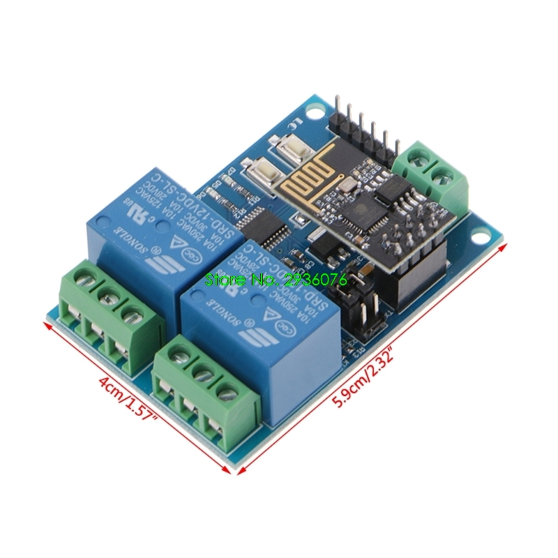 2018 New WIFI Relay Module ESP8266 IOT APP Controller 2-Channel For Smart Home 12V Drop Shipping Support esp 07 esp8266 uart serial to wifi wireless module