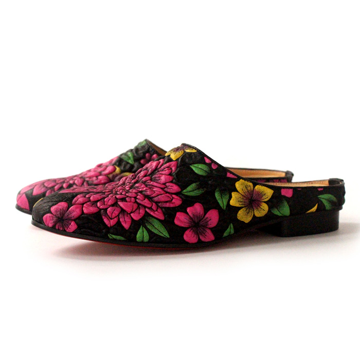 Three D Print Embroidery Slippers Flat heel Leather Mens Driving Loafers Spring Hot 2018Three D Print Embroidery Slippers Flat heel Leather Mens Driving Loafers Spring Hot 2018